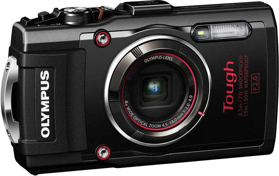 Olympus Tough TG-4, black - (16.8 млн, оптический zoom: 4x, 1920x1080, 5 кадр./сек, 460000 точек, 3 дюйма)