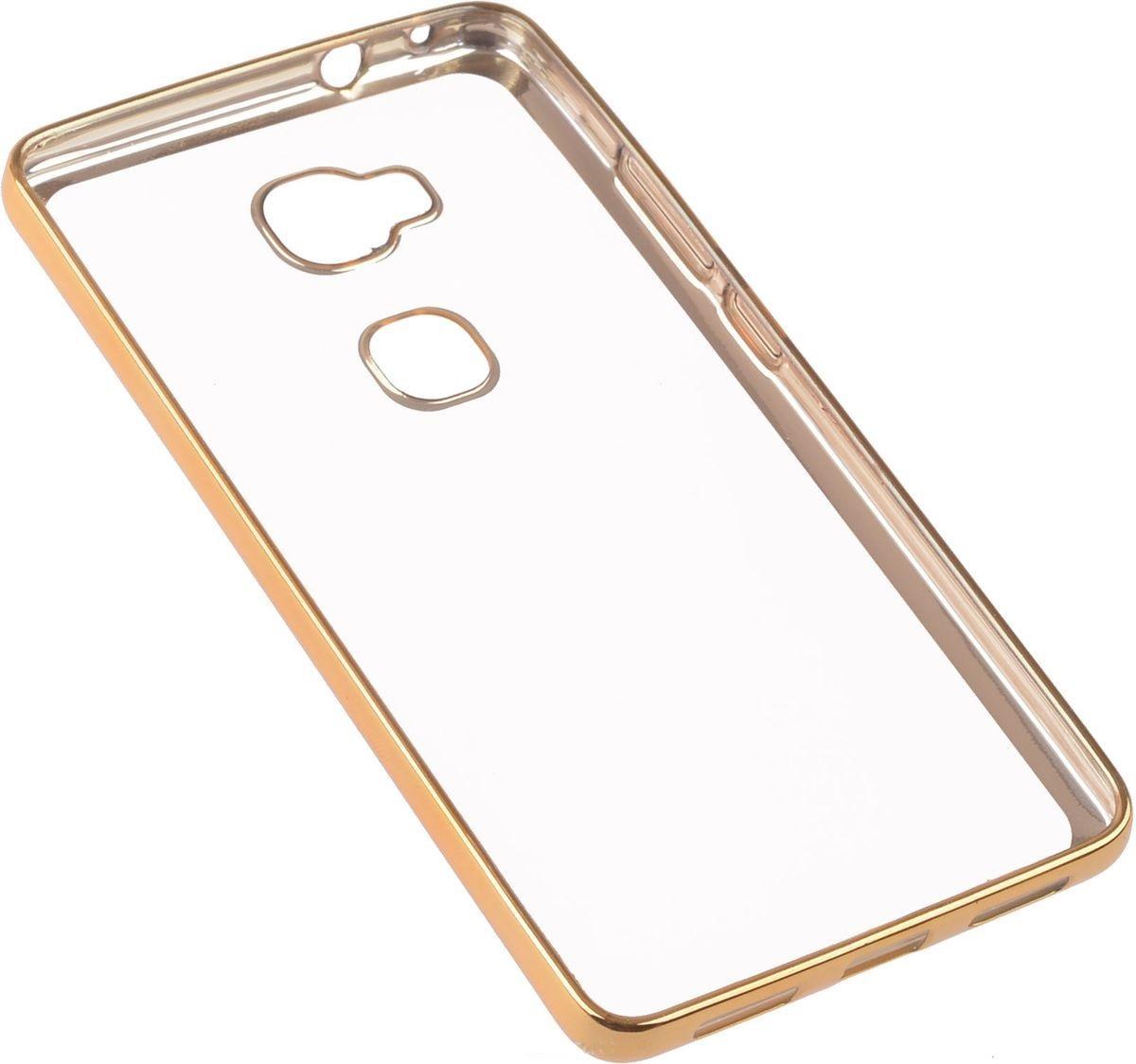 SkinBox silicone chrome border 4People для Huawei Honor 5X, gold
