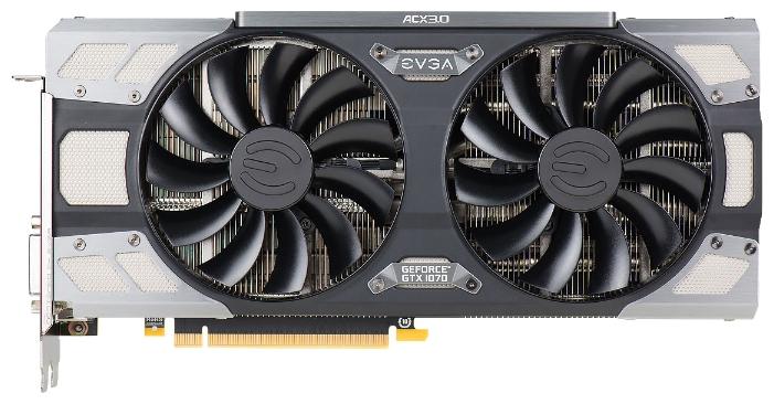 Видеокарта EVGA PCI-E NV GTX1070 FTW GAMING ACX 3.0 8192Mb 256b DDR5 D-DVI+HDMI 08G-P4-6276-KR