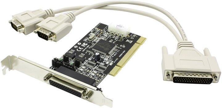 ST-Lab CP-100 (PCI) COM+LPT (2 внеш. COM +1 LPT) - ; PCI; снаружи 2x DB9 (COM 9pin) через переходник