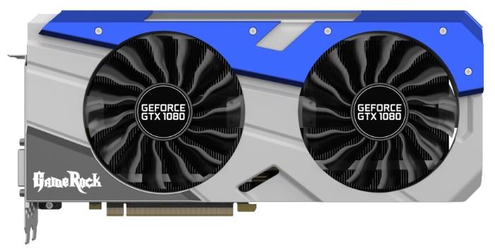 Palit GeForce GTX 1080 8192Mb - NVIDIA GeForce GTX 1080, 16 нм, 1645 МГц, 8192 Мб GDDR5X@10000 МГц 256 бит, TDP 180 Вт • Разъёмы: DVI-D,