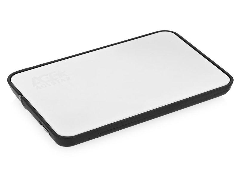 """AgeStar 31UB2A8 (USB3.1b), Silver - USB 3.1 (B) • Мест для накопителей - 1 (SATA I-III, 2.5"""") 31UB2A8 SILVER"""