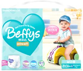 Подгузники-трусики Beffy's extra soft д/мальчиков XXL более 17кг/28шт 9022