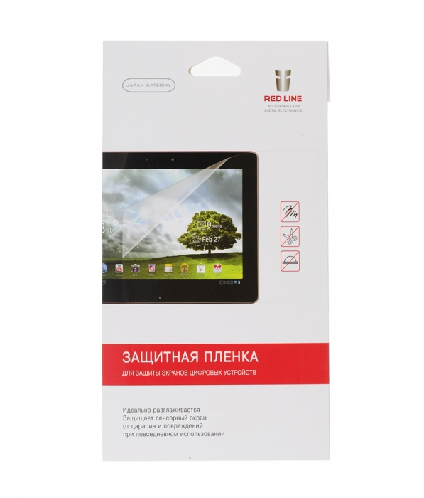 "Red Line для Samsung Galaxy Tab A 10.1 SM-T580, глянцевая - (Защитная пленка; 10.1""; 10,1''; Samsung Galaxy Tab A SM-T580)"