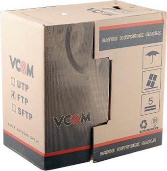 VCOM FTP 4 пары 5E, 305 м (VNC1110) - (Кабель. UTP 5e. Длина 305 м.)