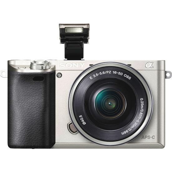 Sony Alpha A6000 Kit (SEL-1650), silver - (24.7 млн, 1920x1080, 11 кадр./сек, ЖК-экран: поворотный, 921600 точек, 3 дюйма)