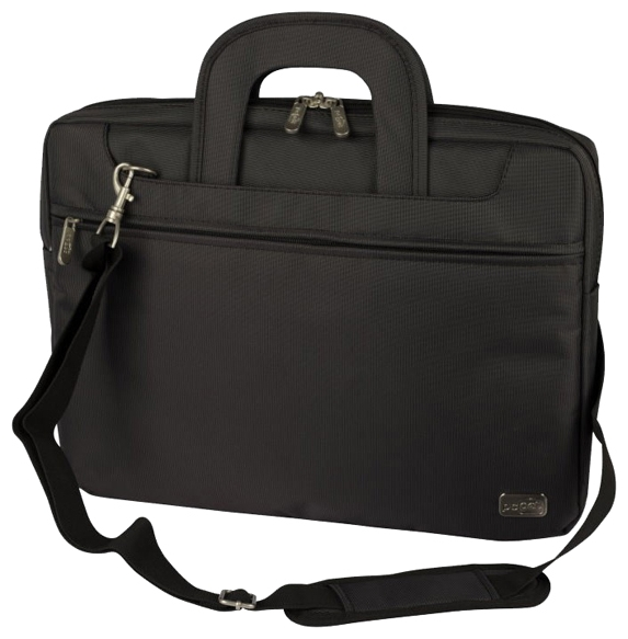 """PC PET PCP-Z9117N Black - сумка; под диагональ экрана 17.3""""; синтетический (нейлон). Цвет серый, черный. • Отделения:, внешн. есть,"""