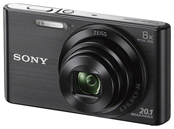 Sony Cyber-shot DSC-W830 Black - (20.5 млн, оптический zoom: 8x, 1280x720, 0.8 кадр./сек, 230000 точек, 2.70 дюйма)