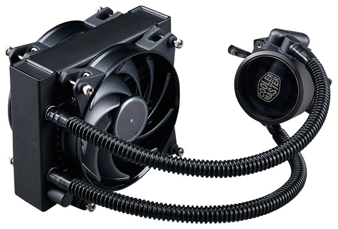 Cooler Master MasterLiquid Pro 120 - для процессора; вентиляторов 1 (120x120x25 мм); 650 - 2000 об/мин; радиатор - алюминий • LGA775,