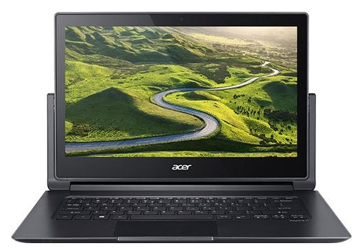 Acer ASPIRE R7-372T-553E (NX.G8SER.006), Silver - (Intel Core i5 6200U / 2.30 - 2.80 ГГц. Экран 13.3 дюймов, 1920x1080, широкоформатный, сенсорный, мультитач. ОЗУ 8 Гб LPDDR3 1600 МГц. Накопители SSD 128 Гб; DVD нет. GPU Intel HD Graphics 520. ОС Win 10 Home)