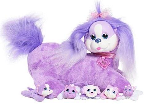 Мягкая игрушка Just Play Собачка Кэнди и ее щенки, violet 42108