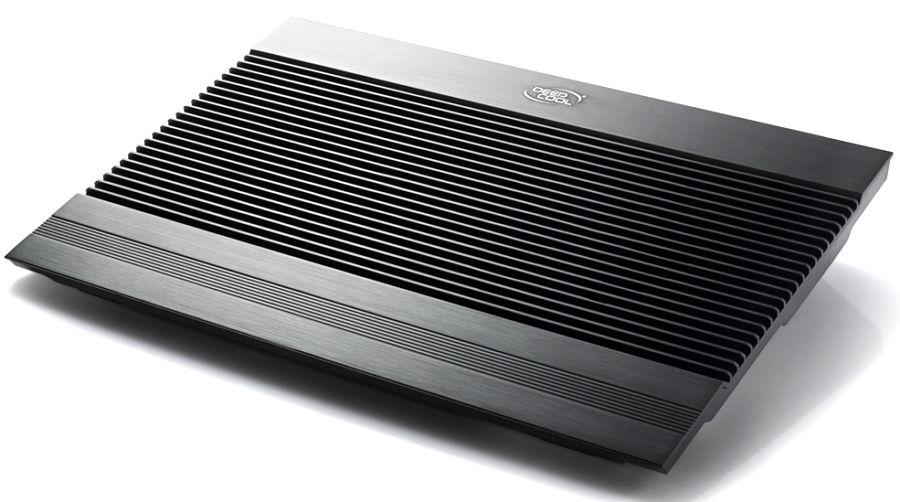 DeepCool N8 ULTRA, Black - (410 x 275 x 64 мм; охлаждение - активное (2 вентилятора); питание - USB-порт; USB-хаб - 3 порта + 1 для подключения • наклон - 10°, неизменяемый)