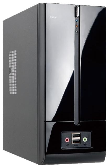 IN WIN BM639 160W Black - (черный, Mini-ITX, Slim-Desktop, БП 160 Вт, 1 внутр. 5.25'', 1 внутр. 3.5'', USB x2, наушники, микрофон)