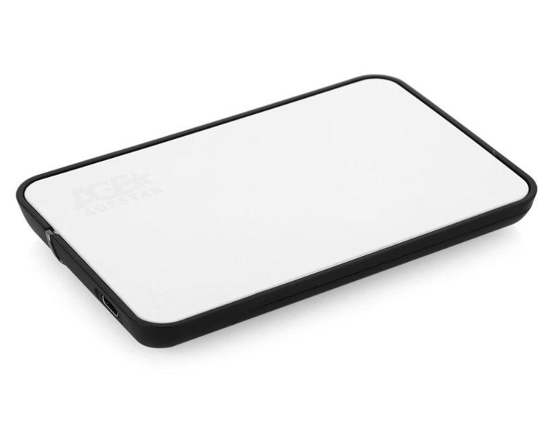 Корпус для жесткого диска AgeStar 31UB2A8C (USB3.1c), Silver 31UB2A8C SILVER