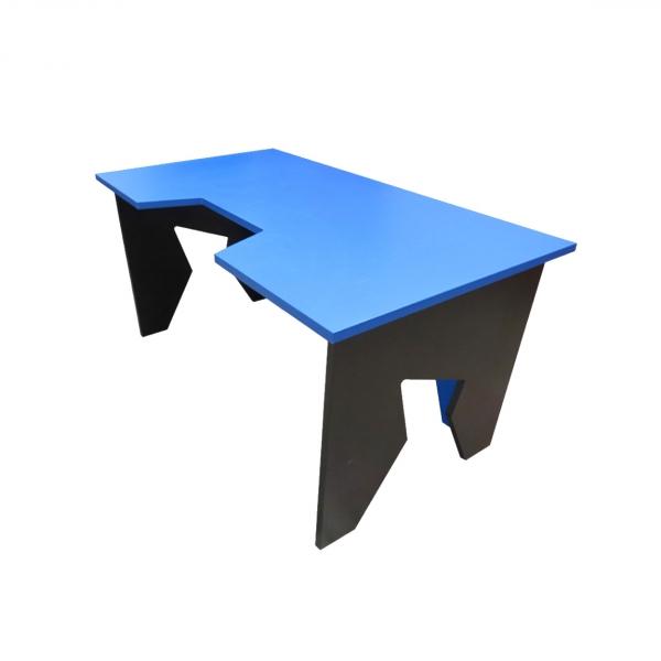 Стол компьютерный Generic Comfort Gamer/NB, black/light blue GAMER/NB/N