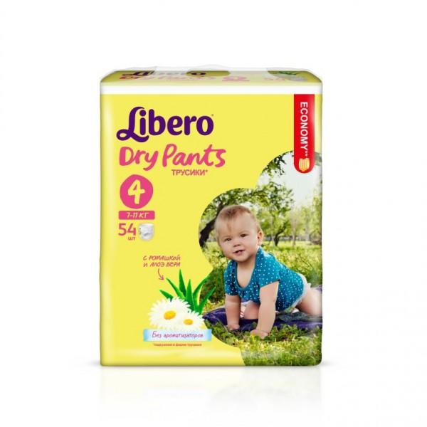 Подгузники-трусики Libero Dry Pants Maxi (7-11 кг) 54 шт.