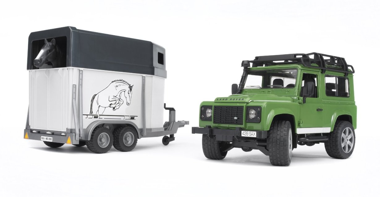 Машинка Bruder Внедорожник Land Rover Defender с прицепом
