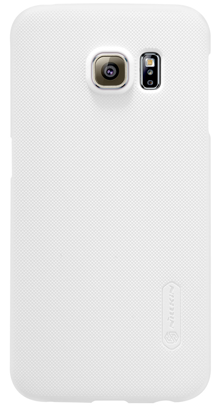 Чехол-накладка Nillkin Super frosted shield для Samsung Galaxy S6 Edge White