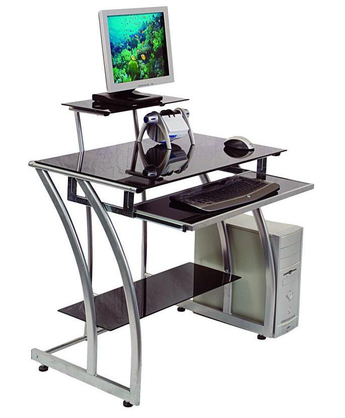 Стол компьютерный Бюрократ GD-010/Black