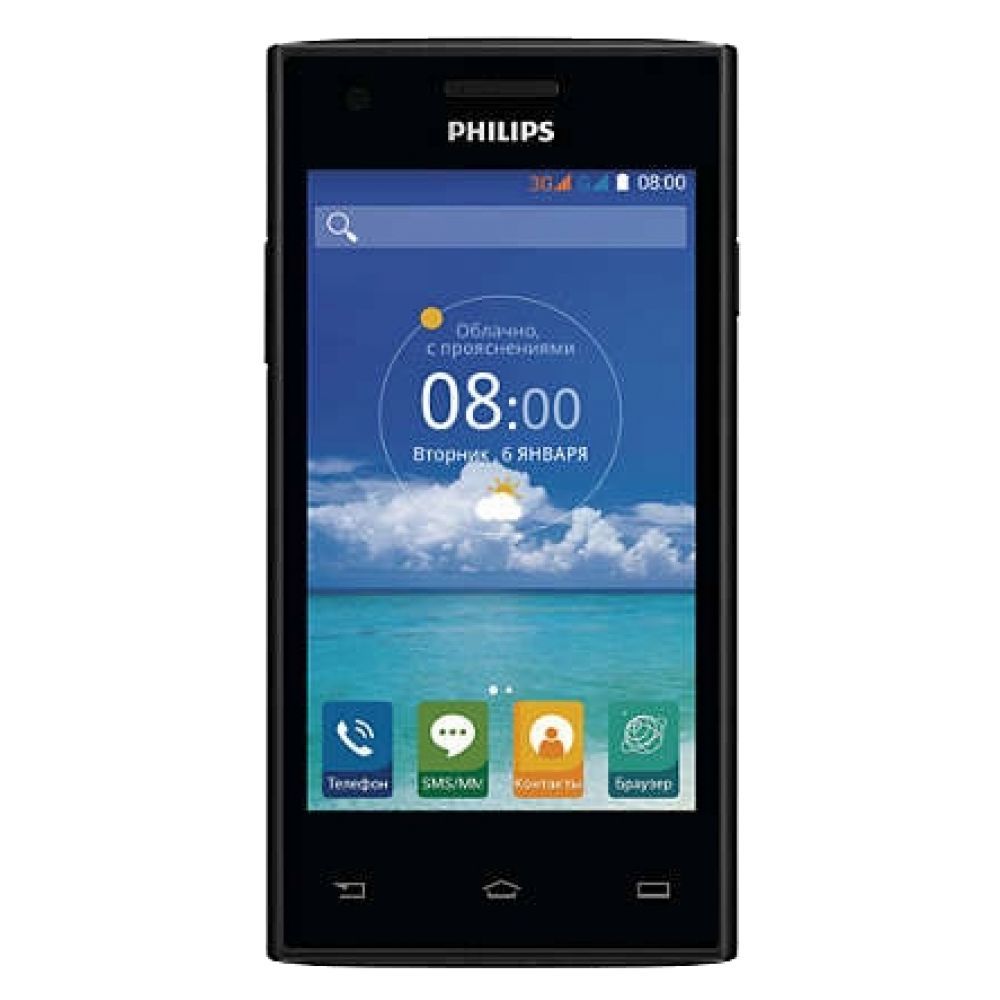 PHILIPS S309 8Gb black - (; GSM 900/1800/1900, 3G; SIM-карт 2; 1000 МГц; RAM 1 Гб; ROM 8 Гб; ; 5 млн пикс., 2592x1944, светодиодная вспышка; есть, 0.3 млн пикс.)