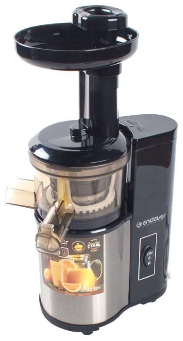 Endever Sigma-95, steel - Тип: вертикальная шнековая соковыжималка. Мощность: 350 Вт. Кол-во скоростей: 1. Материал корпуса: нерж.