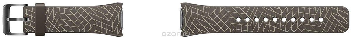 Samsung Galaxy Gear S2 Mendini collection, black - (Ремешок для 'умных часов'; эластомер, стальная пряжка; пряжка • для Samsung Gear S2)