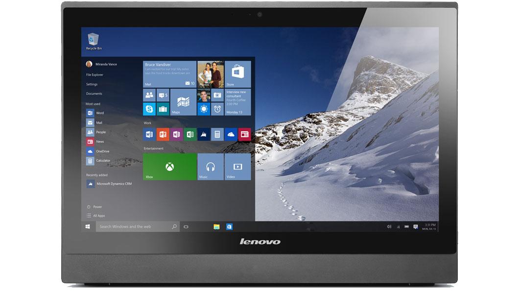 """Lenovo S400z All-In-One (10HB003URU) - (Intel Core i3-6100U / 2.30 ГГц; 4 Гб; 500 Гб; ODD - DVD Super Multi • Экран 21.5"""" 1920x1080; Intel HD 520 • LAN 10-1000 Мбит/с; Wi-Fi 802.11 a/b/g/n/ac; Bluetooth есть • MS Windows 10)"""