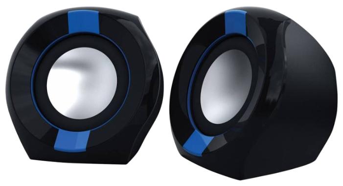 Oklick OK-203, Black/Blue - (5 Вт; 180-16000 Гц; полос 1; корпус - пластик; питание от USB-порта)