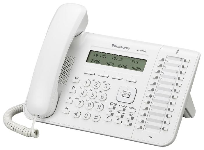 VoIP-телефон Panasonic KX-NT543, white, WAN, LAN, есть определитель номера KX-NT543RU-W