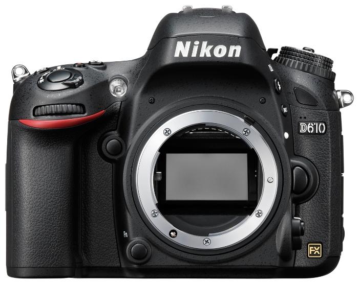 Nikon D610 body, black - (24.7 млн, 1920x1080, 6 кадр./сек, 921000 точек, 3.15 дюйма)