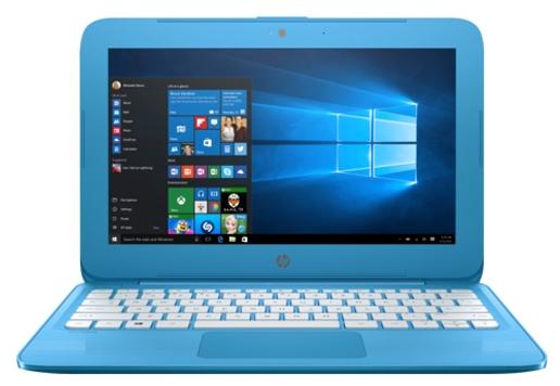 HP Stream 11-y000ur (Y3U90EA), Blue - (Intel Celeron N3050 1600 МГц. Экран 11.6 дюймов, 1366x768, широкоформатный. ОЗУ 2 Гб DDR3L 1600 МГц. Накопители SSD 32 Гб; DVD нет. GPU Intel GMA HD. ОС Win 10 Home)