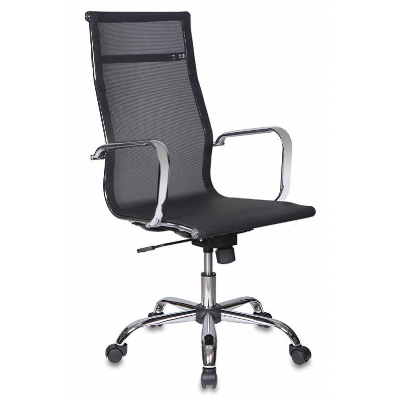 Бюрократ(CH-993/M01)black - (; основа стола Металл; механизм качания - со смещенной осью качания с регулировкой под вес и фиксацией в вертикальном положении)