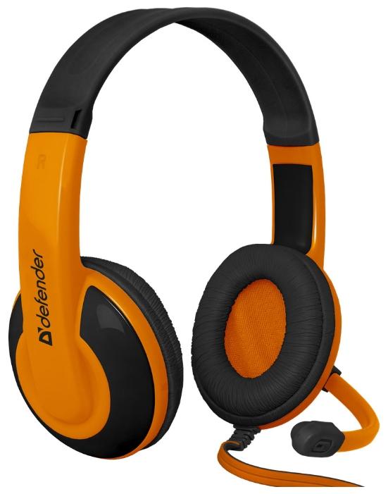 Гарнитура Defender Warhead G-120 black/orange