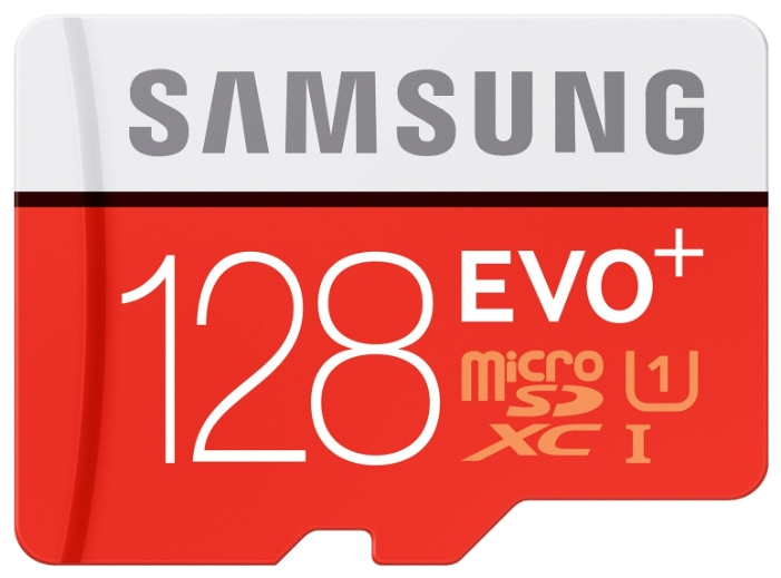 Samsung MB-MC128DA - (128 Гб; microSDXC; Class 10; чтение 80 Мб/с; запись 20 Мб/с; SD-адаптер)