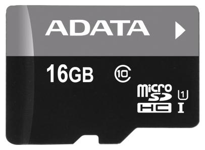 Карта памяти ADATA Premier microSDHC Class 10 UHS-I U1 16GB + SD adapter