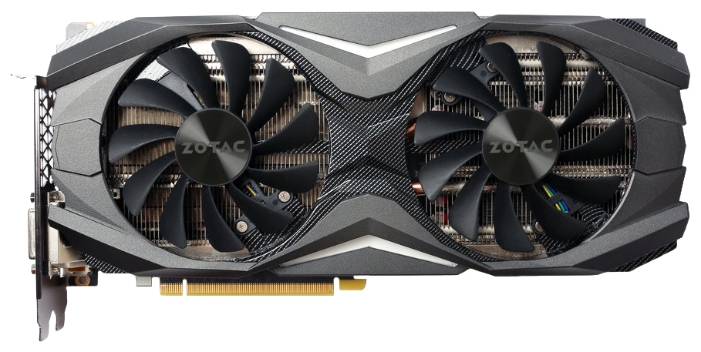 Zotac GeForce GTX 1070 AMP! Edition (8Gb GDDR5, DVI-D + HDMI + 3xDP) - NVIDIA GeForce GTX 1070, 16 нм, 1607 МГц, boost 1797 МГц, 8192