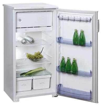 Бирюса 10E white - (холодильник, 235 л (клим.класс N), компрессоров 1, камер 1, дверей 1. Хол-ник 207 л (разм. капельная система). Мор-ник 28 л (разм. ручное). ШГВ 58x60x122 см. Управление электромеханическое. Энергопотр-е класс B (201 кВтч/год). белый / пластик/металл)