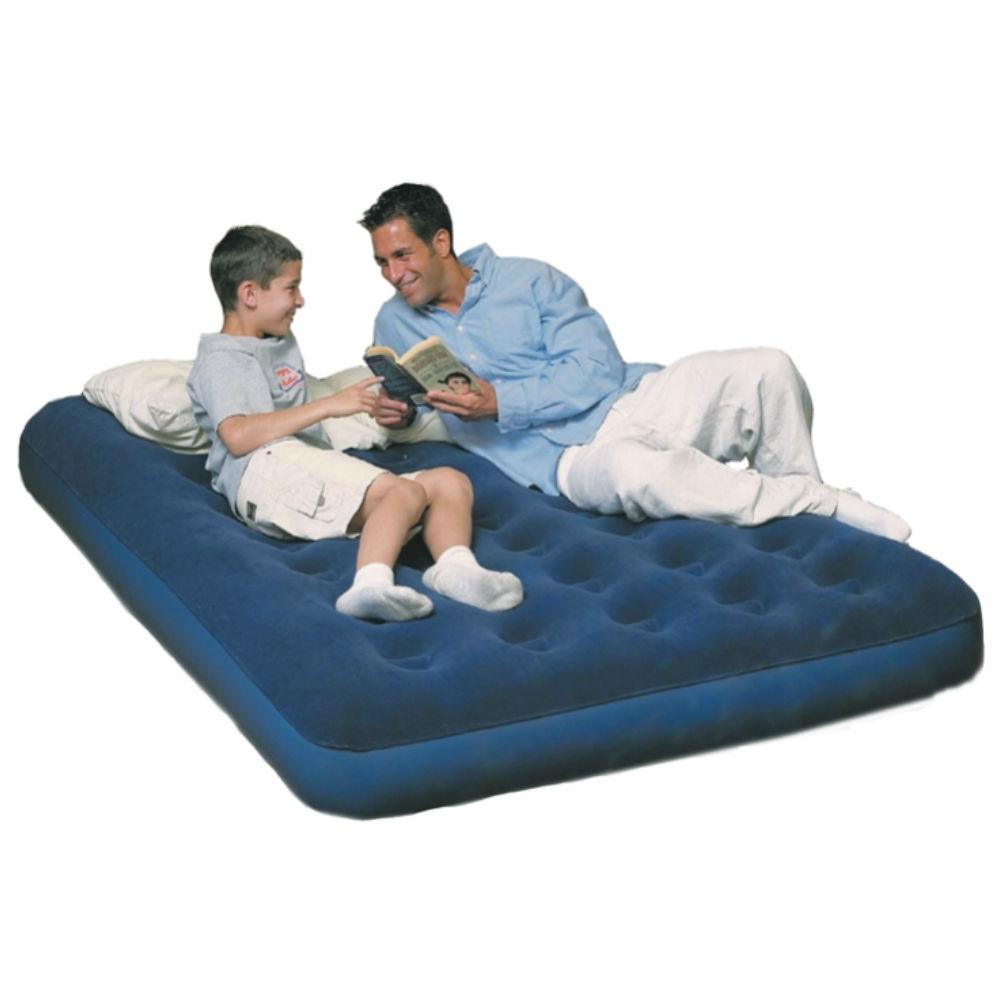 Кровать надувная Bestway 2 местн. флок, эл. насос 67287Nсиний 191х137х22см