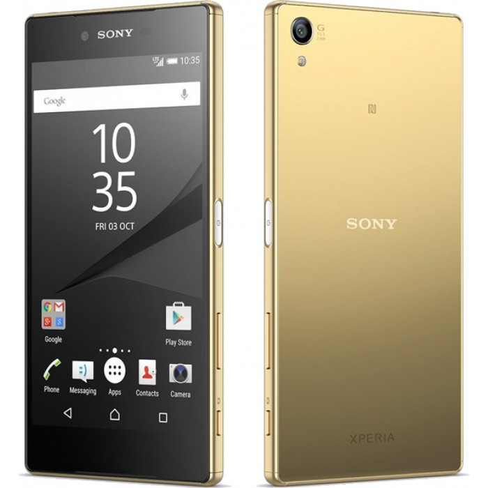 Sony Xperia Z5 Premium LTE Gold - (Android 5.1; GSM 900/1800/1900, 3G, 4G LTE, LTE-A Cat. 6; SIM-карт 1 (nano SIM); Qualcomm Snapdragon 810; RAM 3 Гб; ROM 32 Гб; 3430 мА?ч; 23 млн пикс., светодиодная вспышка; есть, 5 млн пикс.; датчики - считывание отпечатка пальца)