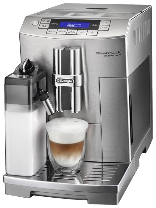 Delonghi ECAM 28.464.M - эспрессо, автоматическое приготовление; кофе - молотый / зерновой; нагреватель - термоблок; резервуар 2 л