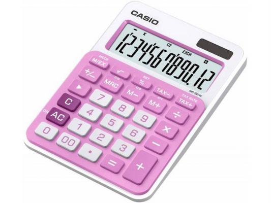 Калькулятор Casio MS-20NC-PK-S-EC 12-разрядный Розовый