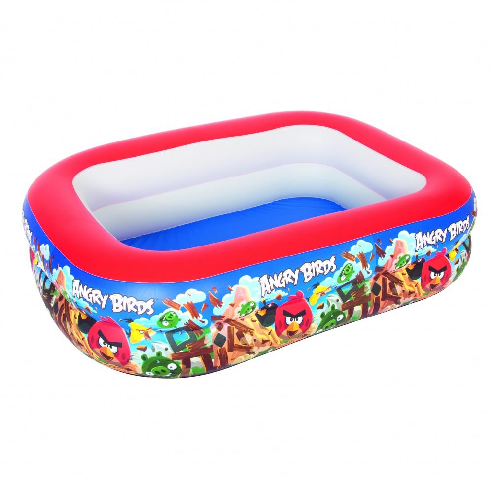 Бассейн надувной Bestway (6+) 96109 Angry Birds р201х150х51см,450л (10%ндс)