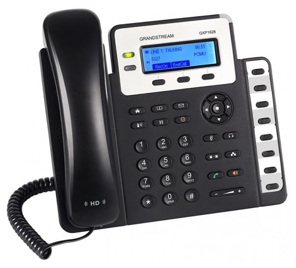 VoIP-телефон Grandstream GXP1628, WAN, LAN, есть определитель номера GXP-1628