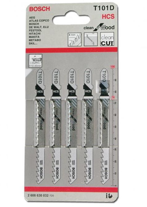 Полотна пильные BOSCH 2608630032 (5x T101D, HCS, 100 мм)