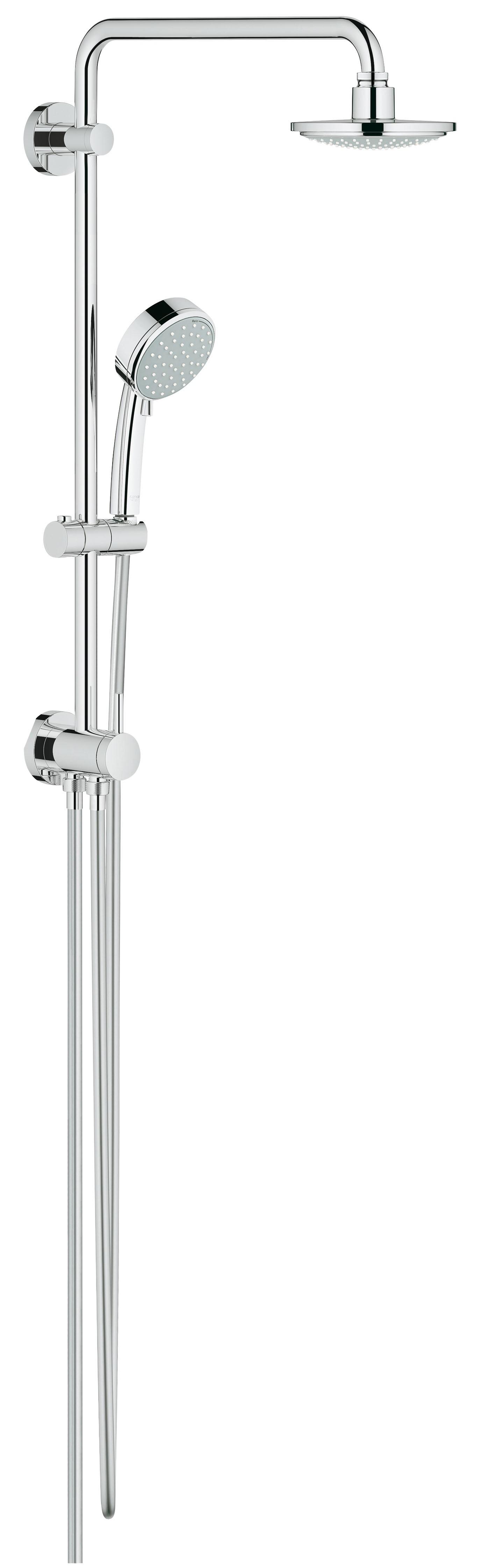 Grohe 26225000 Tempesta Cosmopolitan 160 с верхним и ручным душем (без смесителя), хром