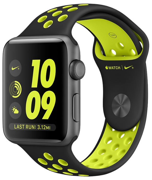 Смарт-часы Apple Watch Nike+ 42mm Space Grey Al /Volt MP0A2RU/A