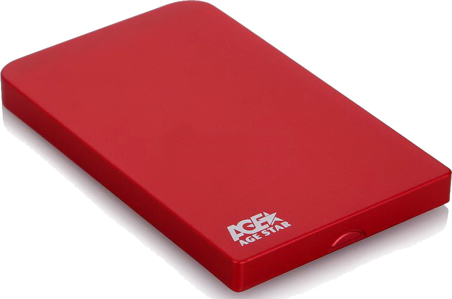 Корпус для жесткого диска AgeStar SUB2O1, miniUSB 2.0, 2.5'', Red SUB201 red