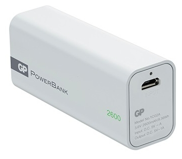 Аккумуляторная батарея GP 1C02A 2600mAh, white