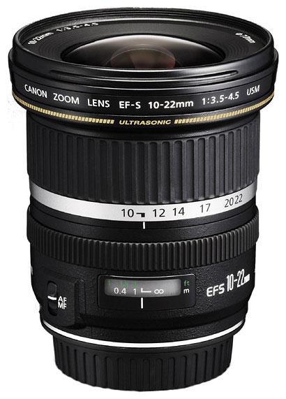 Canon EF-S 10-22mm f/3.5-4.5 USM (9518A007) - (широкоугольный Zoom; ФР 10 - 22 мм; ZOOM 2.2x; F3.50 - F4.50 • Автофокус есть. • Неполнокадровый да)