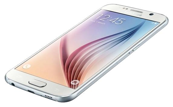 Samsung Galaxy S6 SM-G920F 32Gb White Pearl - (Android 5.0; GSM 900/1800/1900, 3G, LTE; SIM-карт 1 (nano SIM); Samsung Exynos 7420; RAM 3 Гб; ROM 32 Гб; 2550 мАч; 16 млн пикс., светодиодная вспышка; есть, 5 млн пикс.; датчики - освещенности, приближения, гироскоп, компас, барометр, считывание отпечатка пальца)